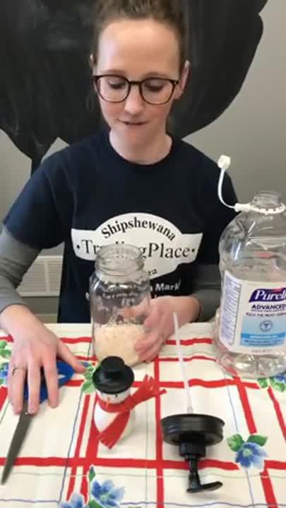 DIY Mason Jar Soap Dispenser Snow Globe