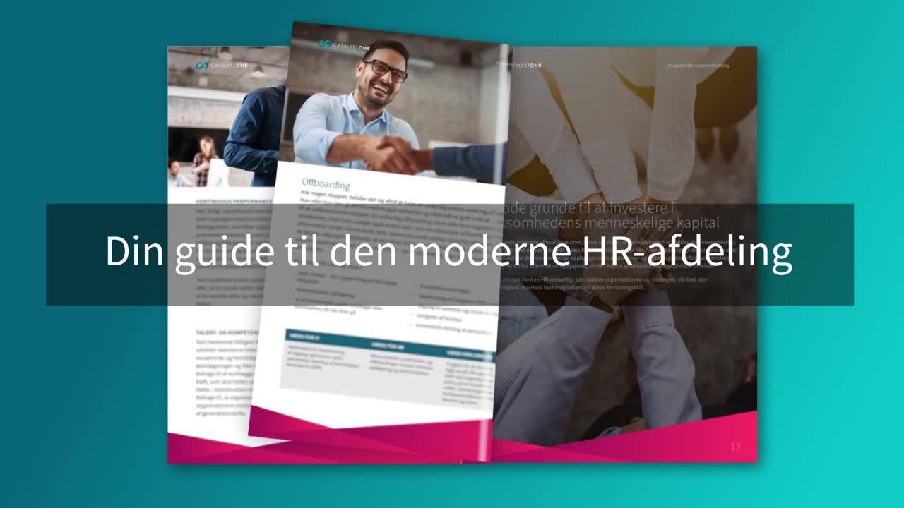 Moderne HR-afdeling animasjon - Dansk