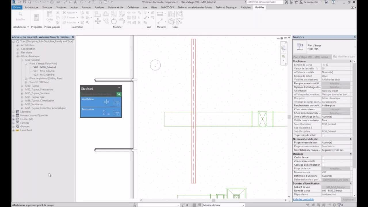 Raccords complexes dans Revit