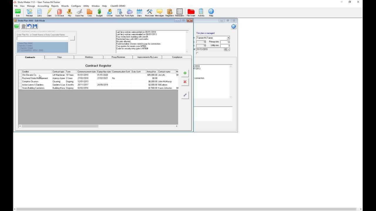 Using Registers in Strata Master