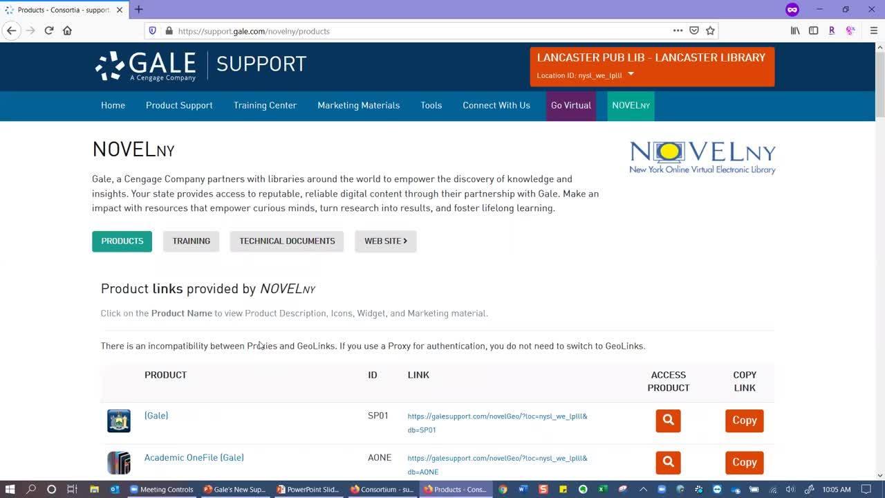 For NOVELNY: Gale's New Support Site for NOVELNY Thumbnail