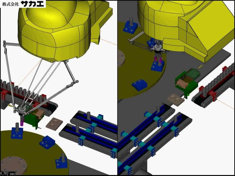 げんこつロボットによるインデックスへの高速供給