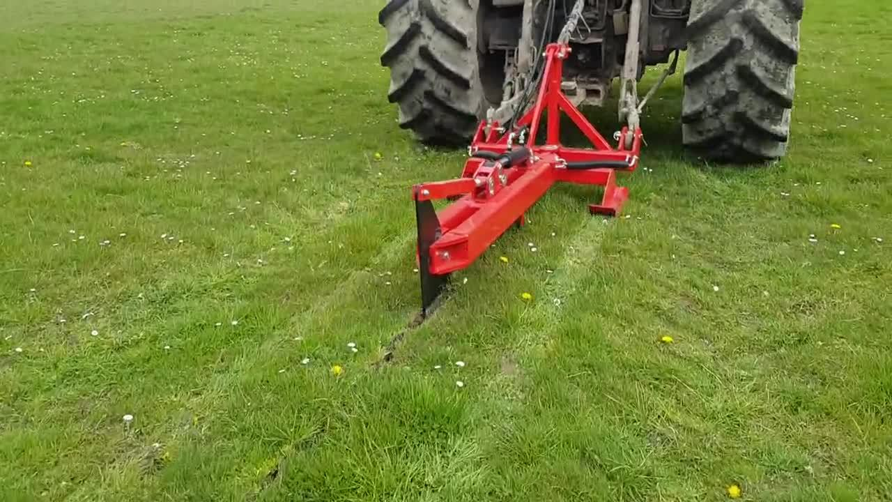 Rata Mole Plough cleanly cutting through pasture