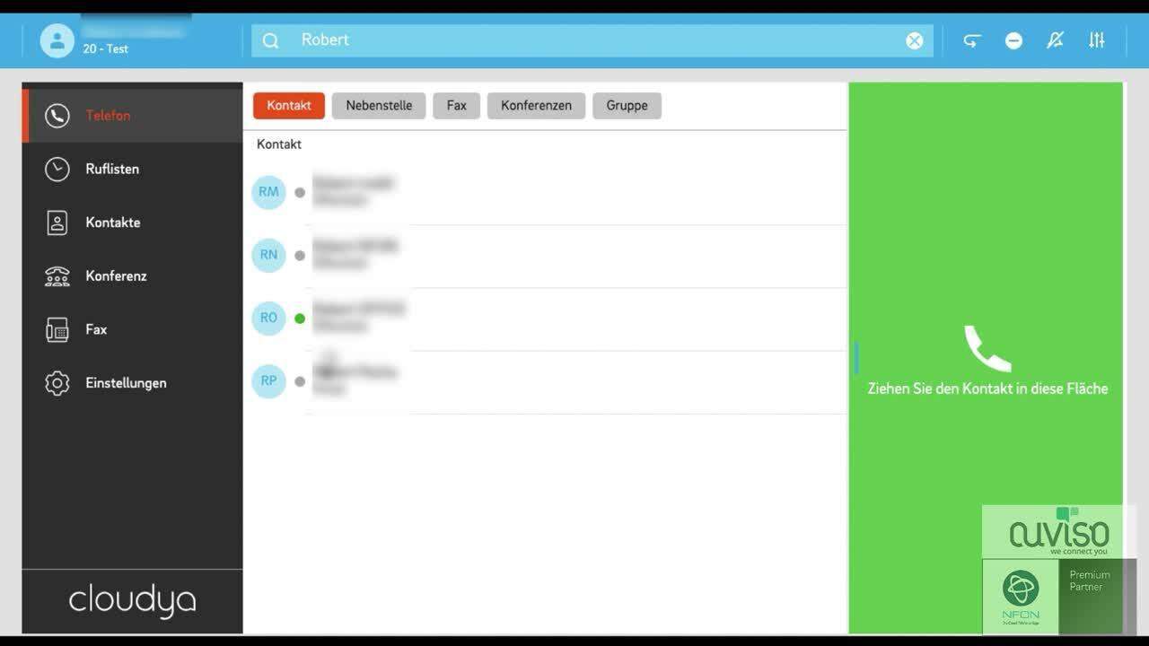 Cloudya - Web App - Suchen