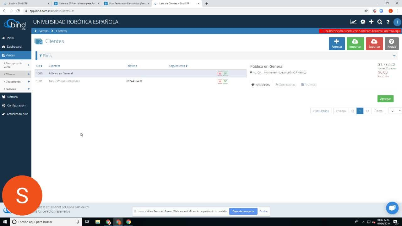 Configuraciones - Bind ERP