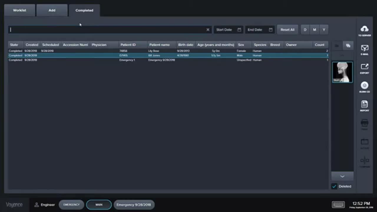 Digital X-ray Software Demo