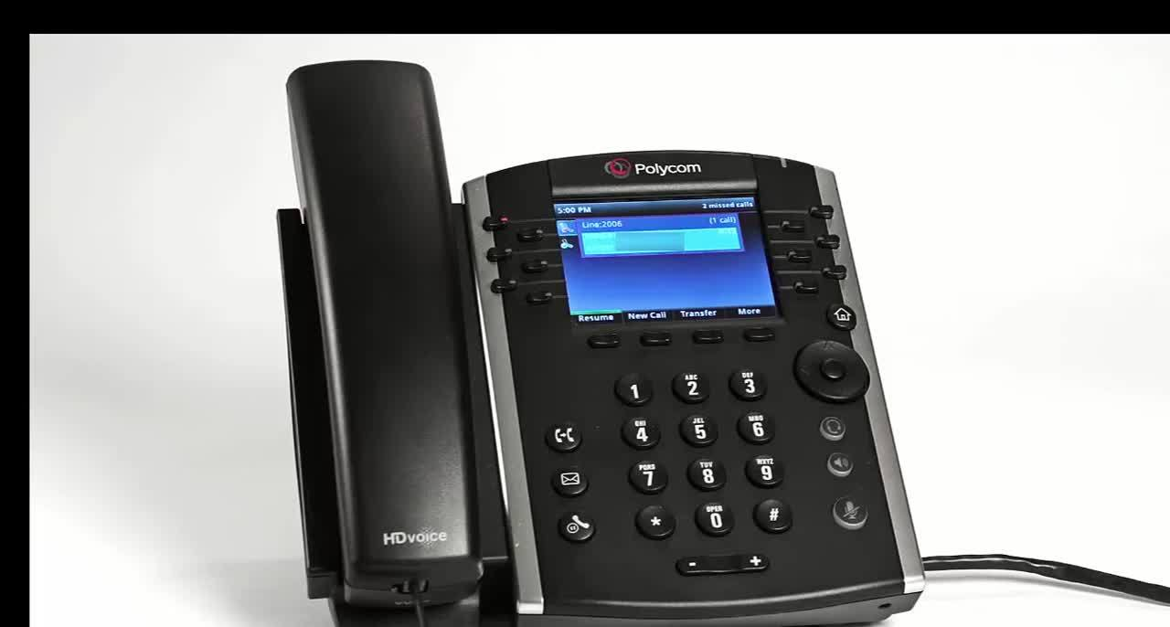 CT Cloud-VVX 400-Placing a call on hold