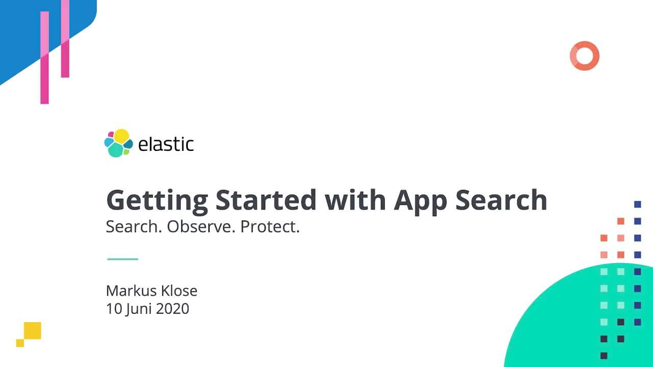 Video for Erste Schritte mit Elastic App Search