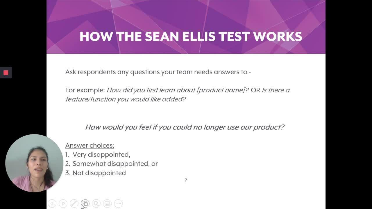Product Market Fit Sean Ellis Test