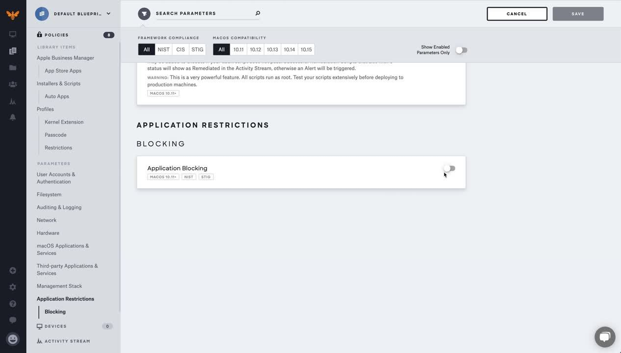 Application-Blocking-Blueprint