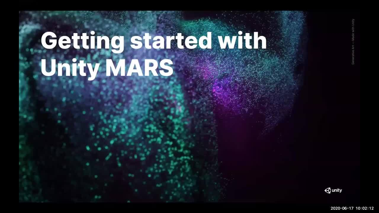 Video polish of Unity MARS onboarding webinar_V03