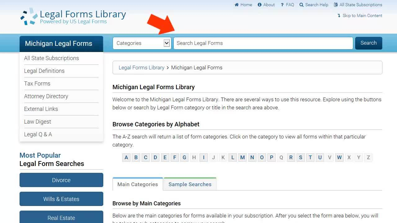 Gale Legal Forms - Browsing and Searching Thumbnail