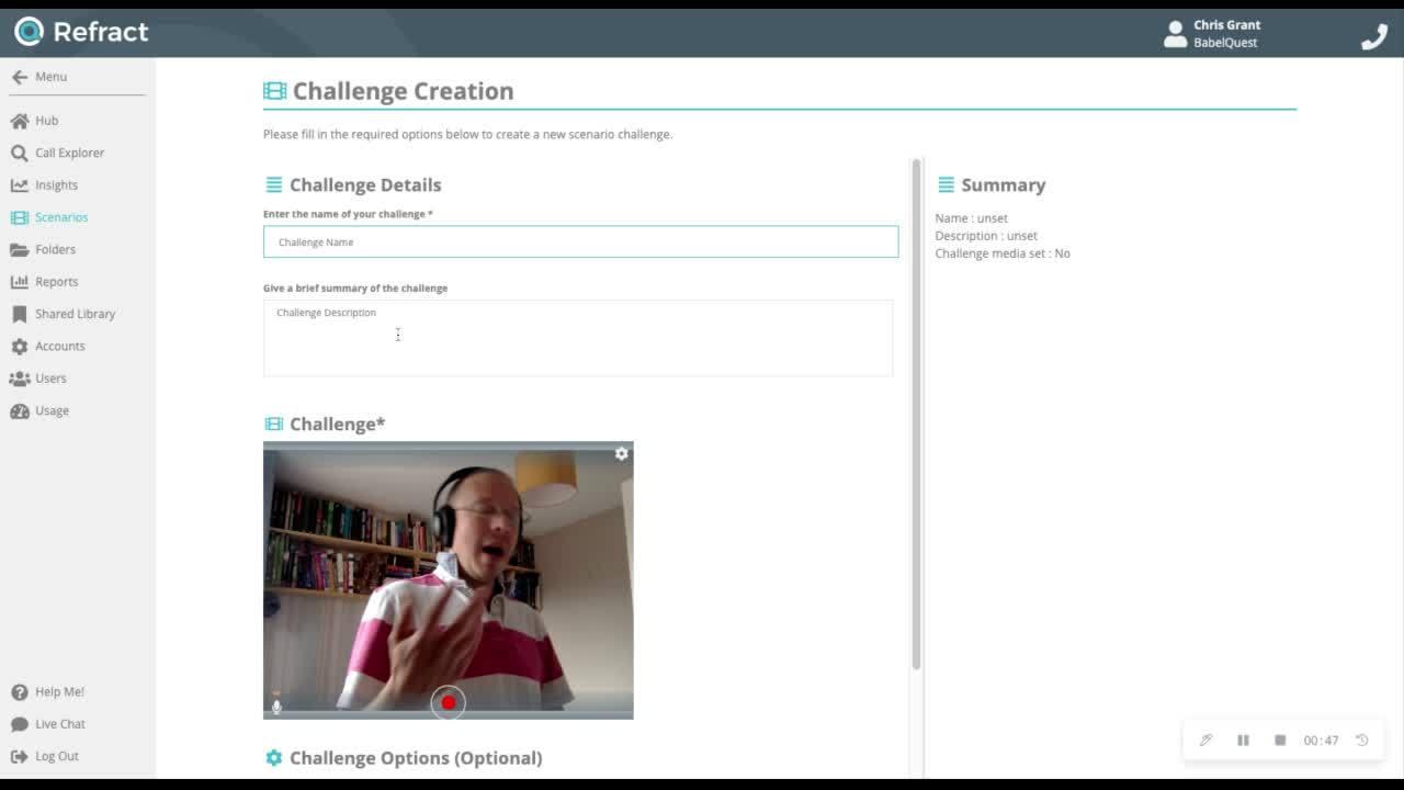 refract scenario challenges