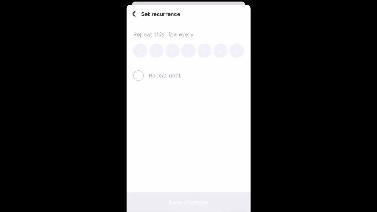 How do I create a recurrent rideshare