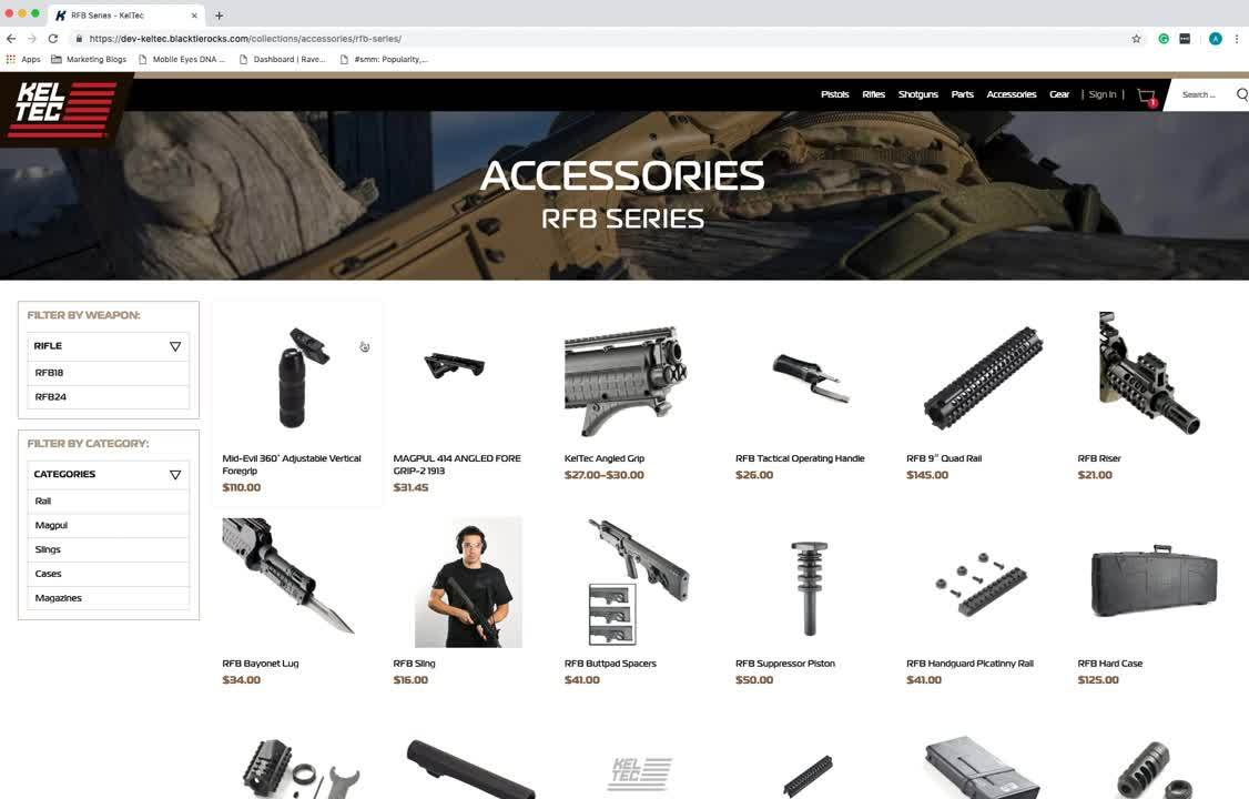 KelTec Search Features