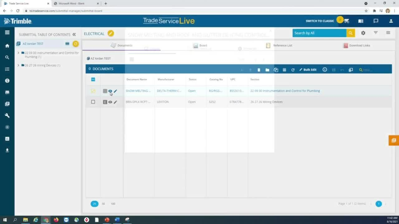 Submittal Directory - Documents Page Tutorial
