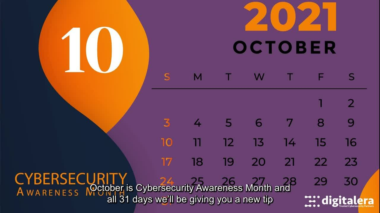 Cybersecurity Month October 2021 Video