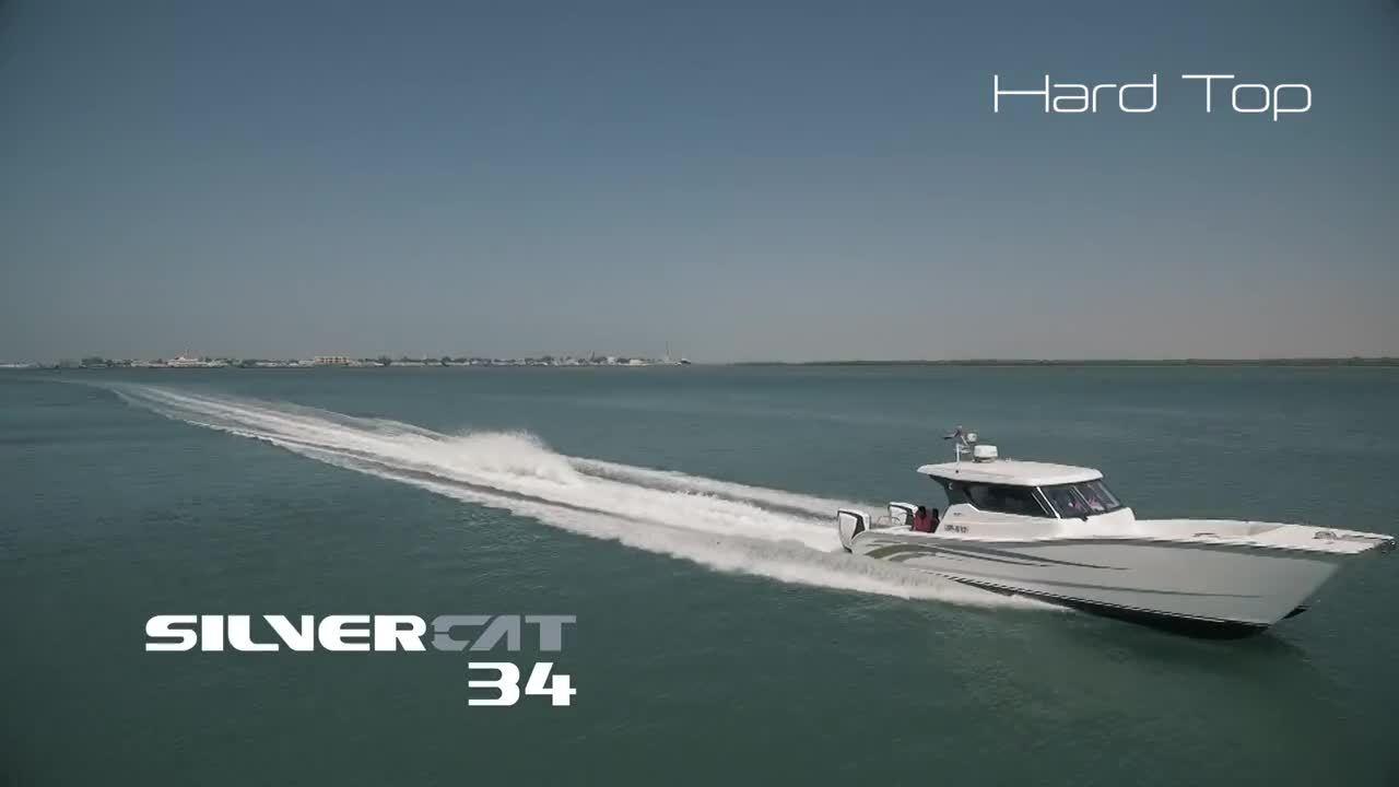 SilverCat 34 Sea trial video