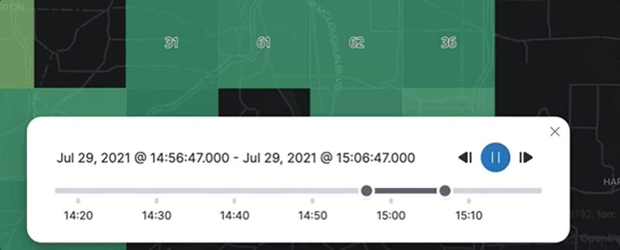Time slider in Elastic Maps