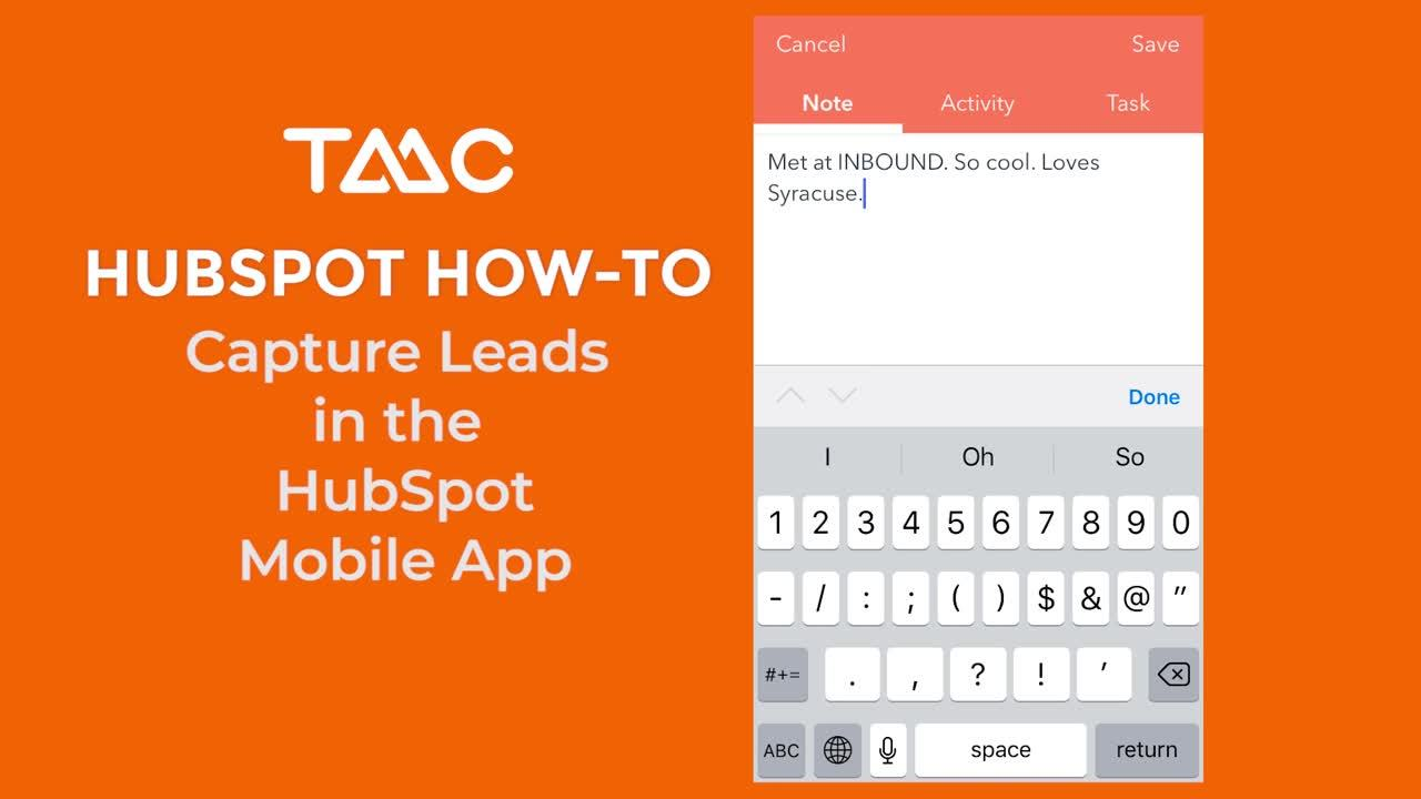 Capture Leads with HS Mobile App Part 2