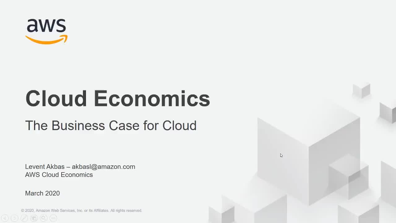 AWS Cloud Economics: The Business Case for Cloud