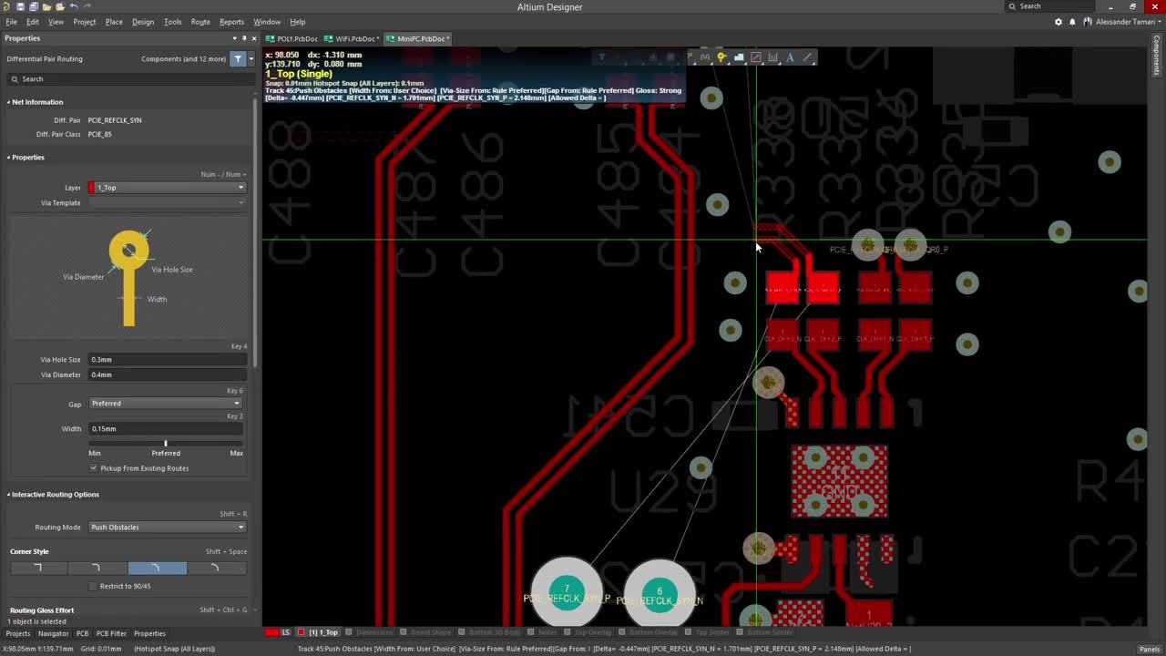Altium Designer 18 Best Pcb Design Software For Engineers Circuit Layout Volts Electrical The Post Route Glossing Functionality Maintains Professional Integrity Of Your Traces All While Adhearing To Rules