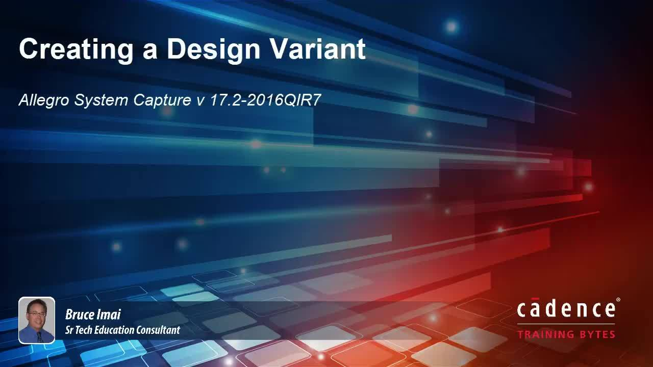 System Capture - Creating a Design Variant