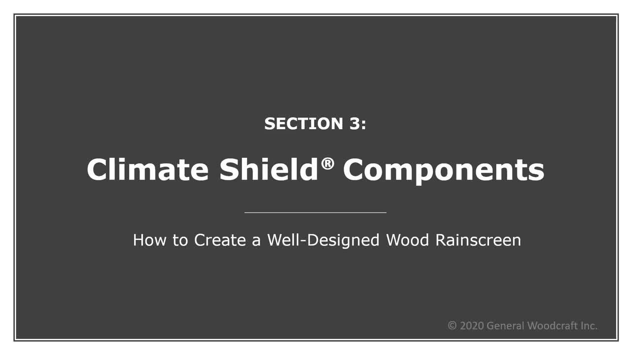 Designing With Climate-Shield Rainscreen online learning