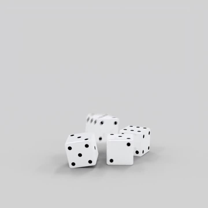 3. Motion Blur On Dice with physics