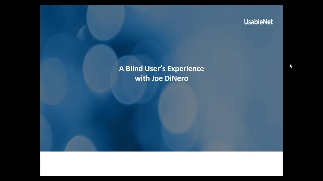 Powerpoint slide - A Blind User's Experience