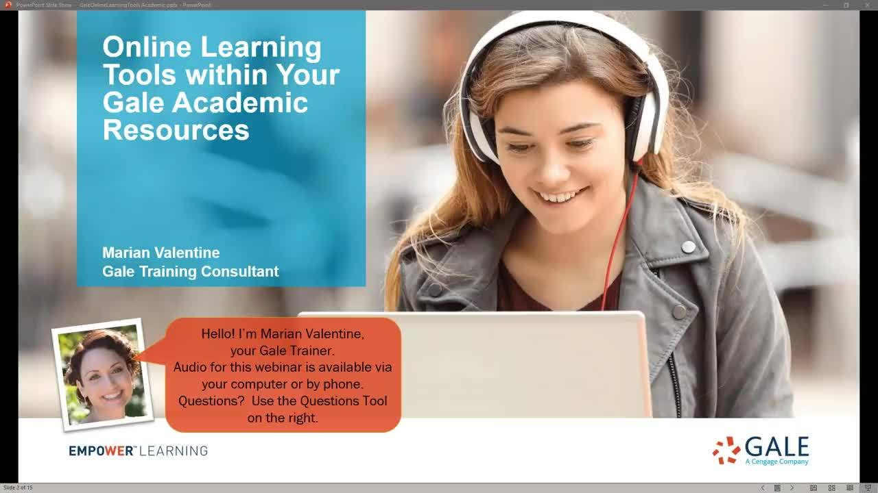 Online Learning Tools Within Your Gale Resources for Academic Libraries Thumbnail